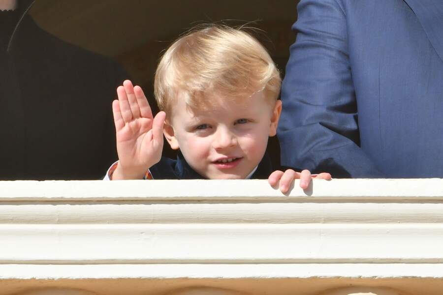 Albert II de Monaco, sa femme la princesse Charlene et leur fils Jacques, à Monaco le 26 janvier 2019
