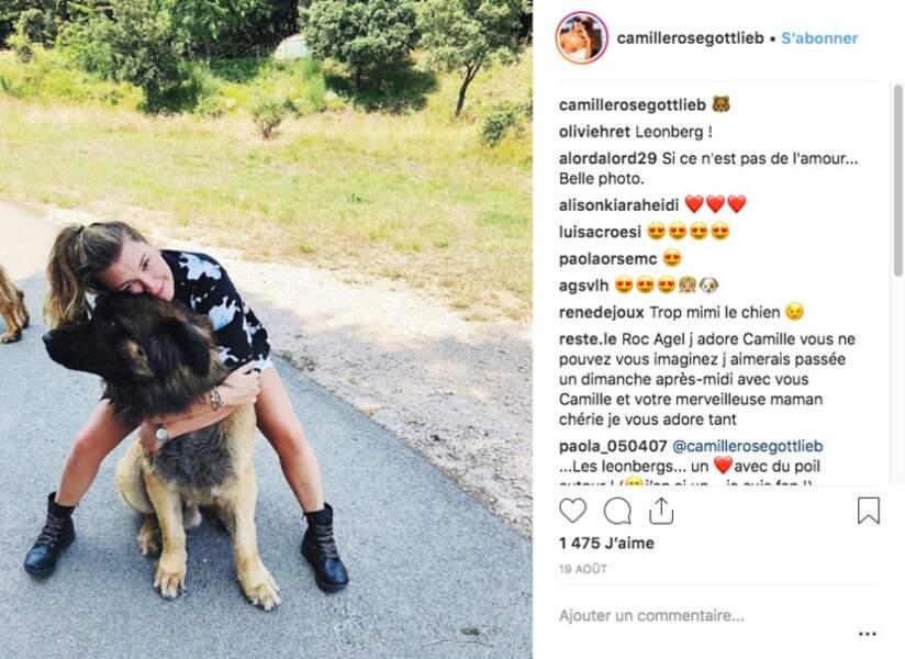 Camille Gottlieb est fan des chiens