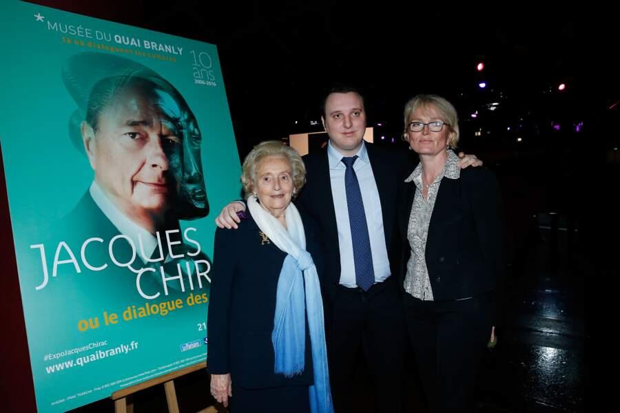 Bernadette, Claude et Martin Chirac au 10e anniversaire du Musée du Quai Branly, en 2016