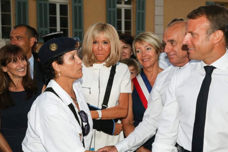 Le couple présidentiel a aussi pu rencontrer les habitants de la ville