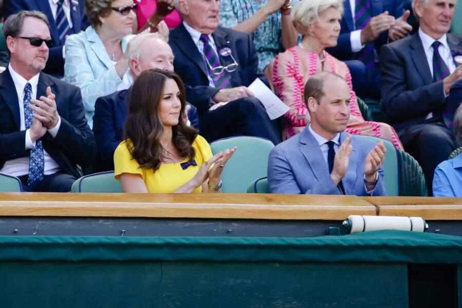 Kate Middleton et le prince William, radieux à Wimbledon