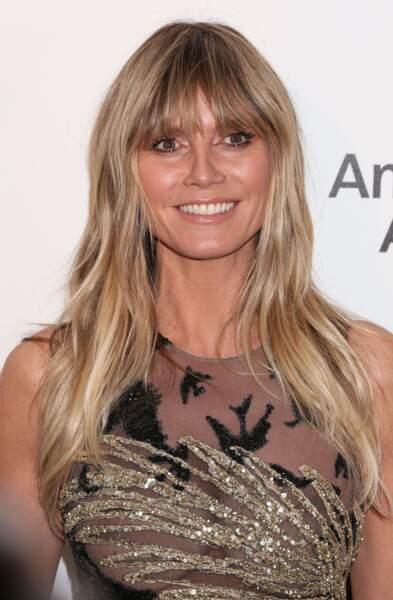 Heidi Klum affiche depuis peu une frange longue