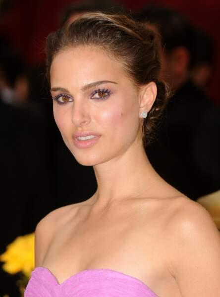 Un maquillage prune comme Natalie Portman