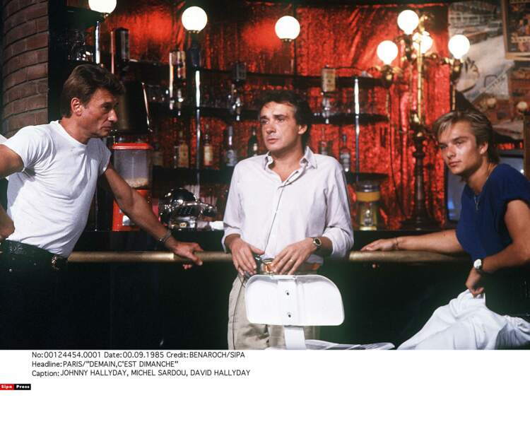 1985. Johnny, Michel Sardou et David