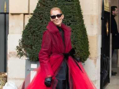 PHOTOS - Céline Dion ultra glamour dans un manteau en tulle Oscar de La Renta