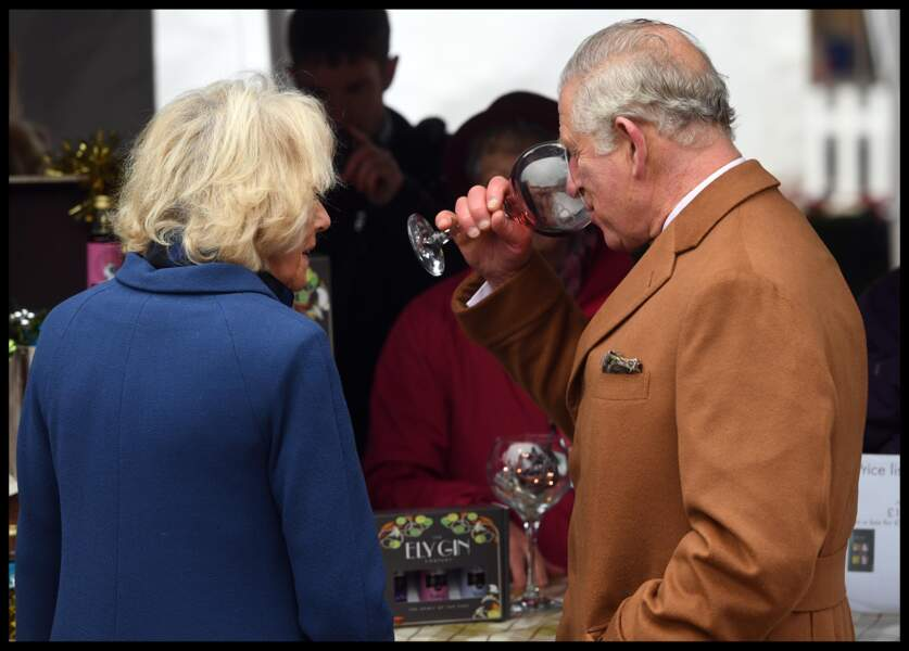 Le prince Charles et Camilla, en visite dans l'Est-Anglie, au nord-est de Londres, le 27 novembre 2018