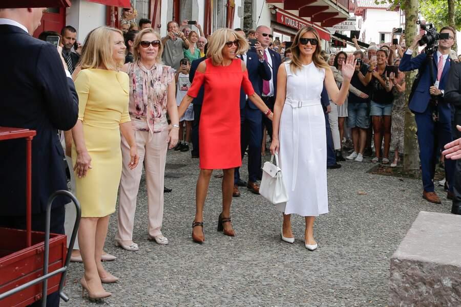 Brigitte Macron et Melania Trump ne sont jamais bien loin