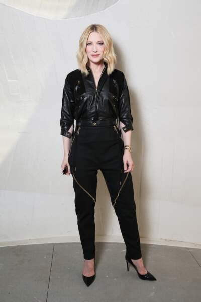 Cate Blanchett sublime et sobre en cuir