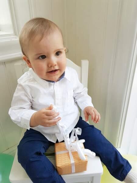 Le prince Alexander, âgé de 1 an, grand frère de Gabriel