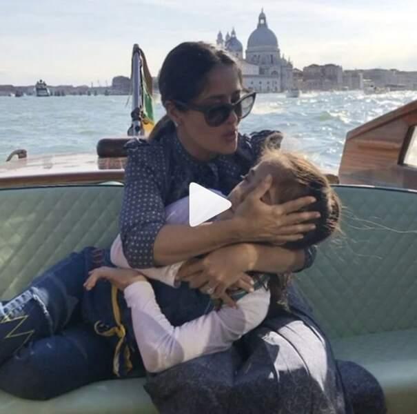Salma Hayek et sa fille Valentina