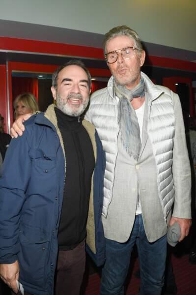 Bruno Solo et Dominique Desseigne (président du groupe Barrière) à Bobino à Paris