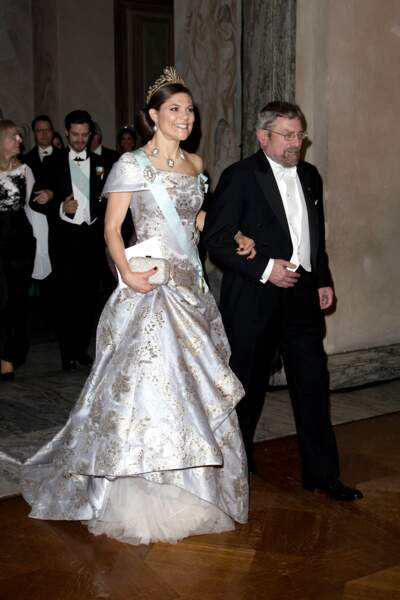 La princesse Victoria de Suède au bras de Michael Kosterlitz