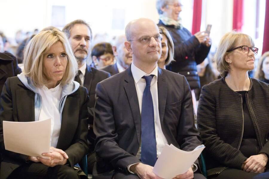 Brigitte Macron au lycée à Dijon