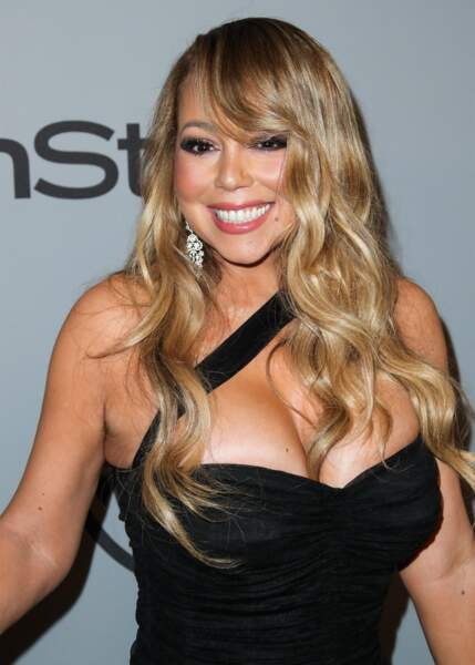 Les longueurs blond californien de Mariah Carey.