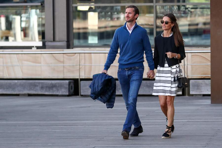 Pippa Middleton avec son mari le 31 mai dernier