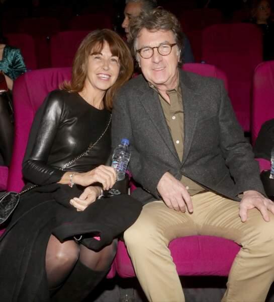François Cluzet et sa femme Narjiss à Athènes en Grèce, le 16 janvier 2017