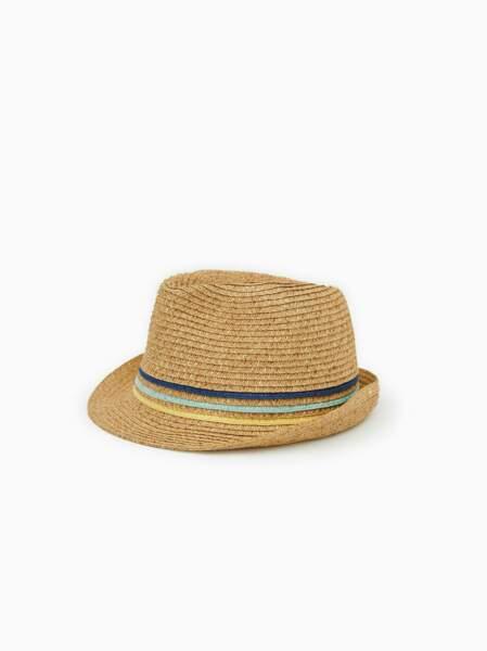 Chapeau de paille sable, 6,99 €, Zara.