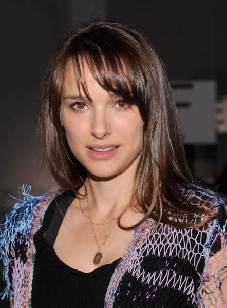 La frange rideau pour Natalie à la Fashion Week de New York en 2012