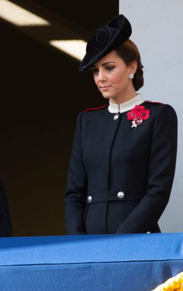 Kate Middleton lors de la cérémonie du centenaire de l'armistice, le 11 novembre 2018