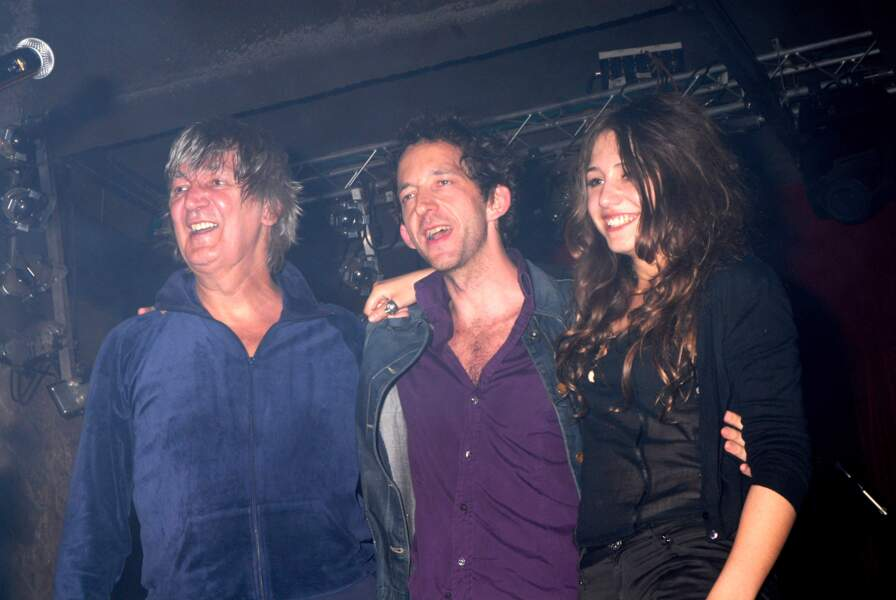 Jaqcues Higelin, Arthur H and Izia Higelin réunis sur scène lors d'un showcase à Paris en 2007