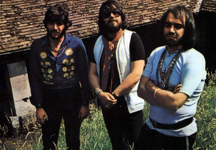 Demis Roussos (à droite) et son groupe les Aphrodite Child en janvier 1968