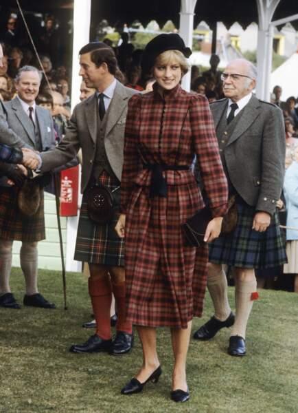 En 1981, la princesse Diana aux jeux de Braemar