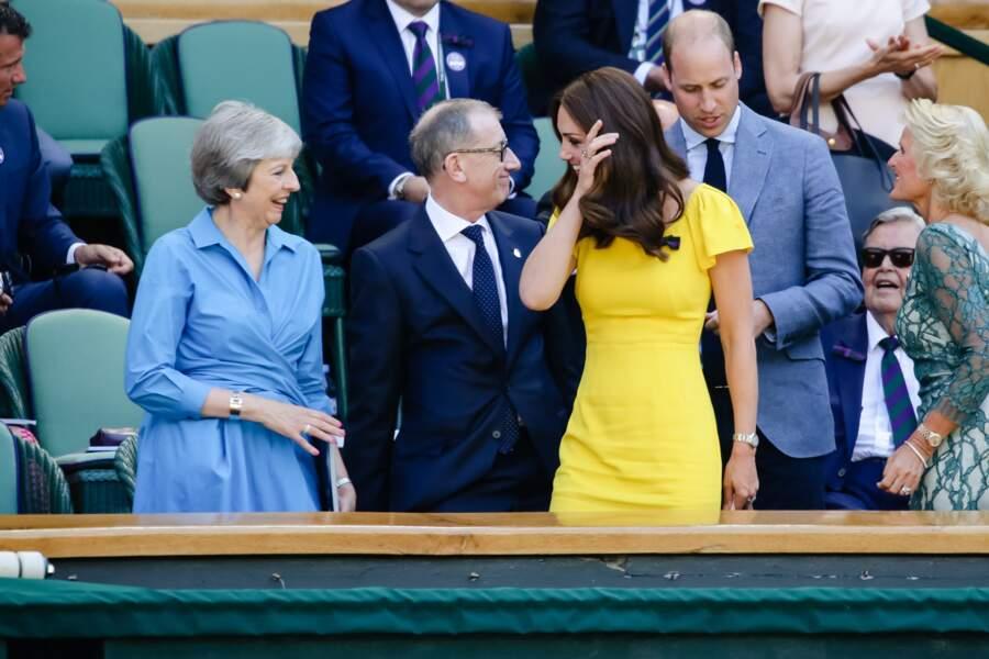 Kate Middleton sublime à Wimbledon, dans une tenue très ensoleillée