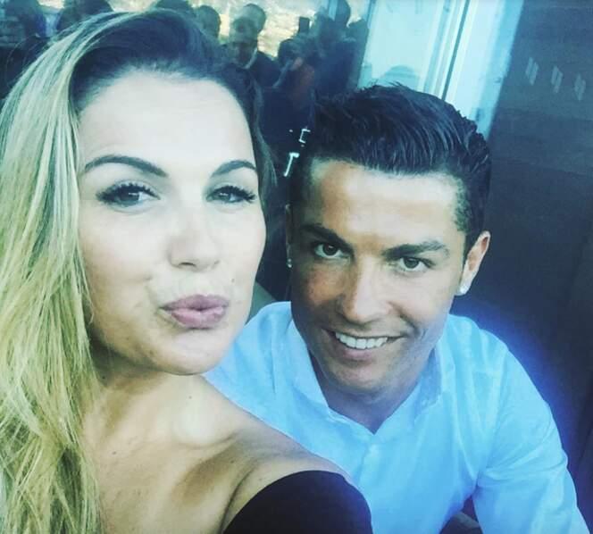 Katia Aveiro et son frère Cristiano Ronaldo