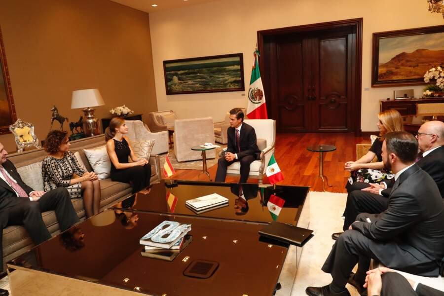 Letizia d'Espagne au Mexique