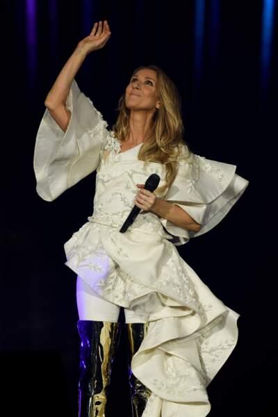 Céline Dion en concert à Copenhague au Danemark le 15 juin 2017
