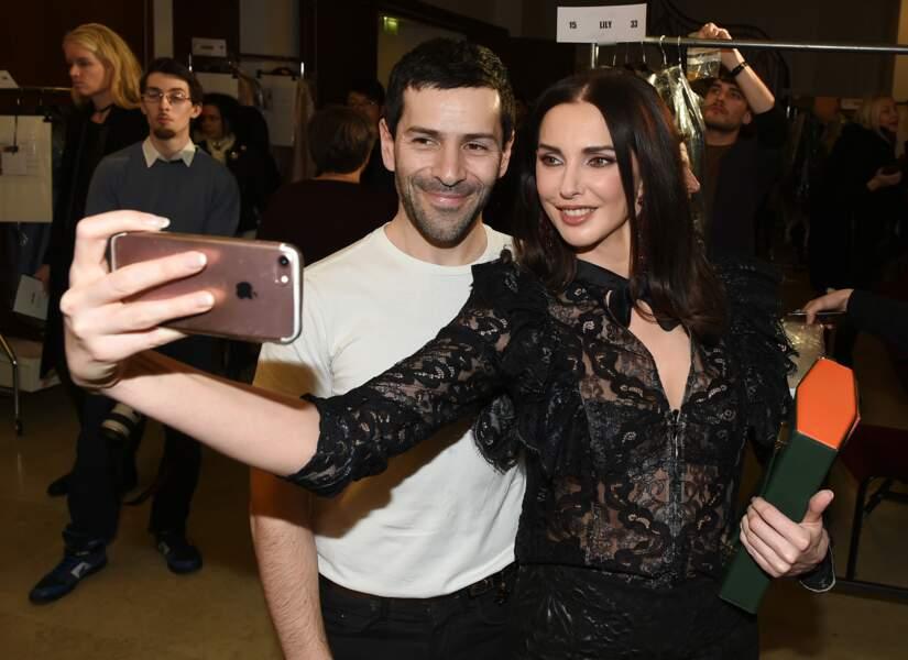 Deuxième selfie avec Alexis Mabille, dans les coulisses de son défilé.