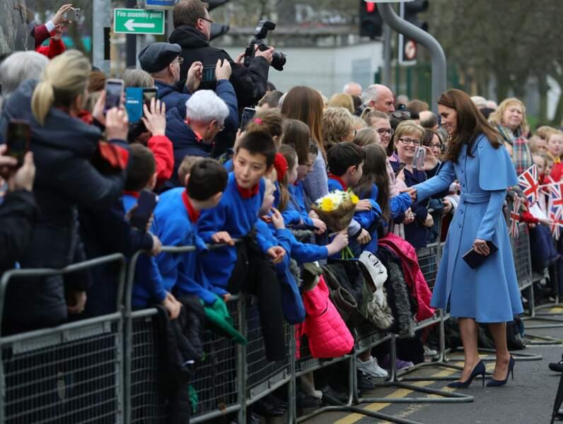 Kate Middleton lors de sa visite en Irlande du Nord, le 28 février 2019.