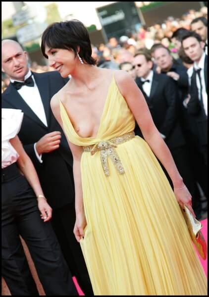 Elsa Zylberstein dévoile son sein lors du festival de Cannes en 2008