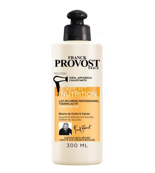 Pour protéger des brushings: Expert Nutrition Lait-en-Crème Thermoactif, Franck Provost 6,30€