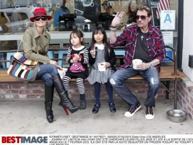 Photos - Johnny, Laeticia, Jade et Joy : leurs plus tendres moments en famille
