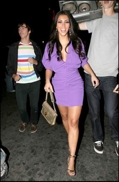 """La jolie brune ici en 2007, quelques mois avant que ne débute l""""émission L'incroyable Famille Kardashian."""