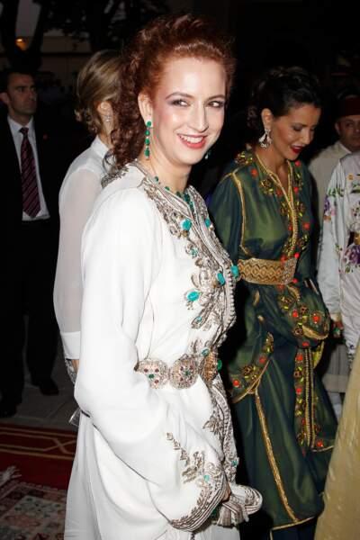 Lalla Salma à un dîner de gala au Palais Royal de Rabat le 14 juillet 2014