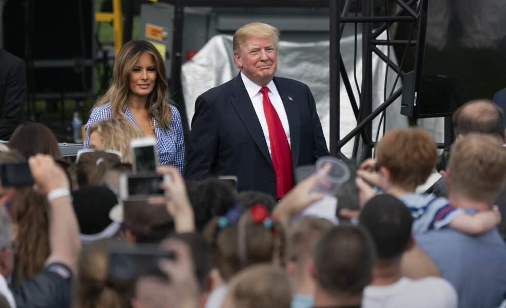 Donald et Melania Trump célèbrent l'indépendance américaine à la Maison Blanche le 4 juillet 2018