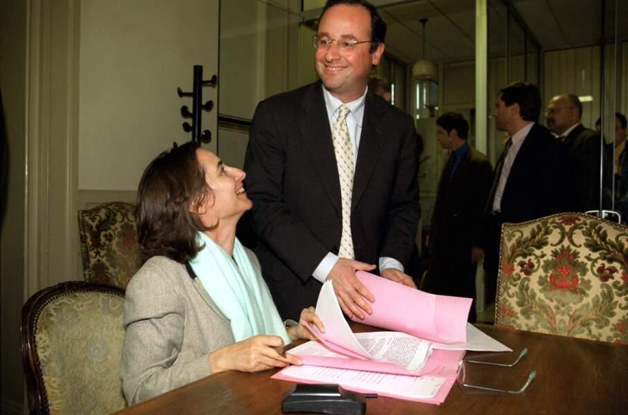 Ségolène Royal et François Hollande lors de la campagne pour les élections européennes, le 17 mai 1999