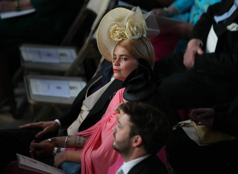 La socialite Pixe Geldof au mariage d'Eugénie d'York, au château de Windsor, le 12 octobre 2018