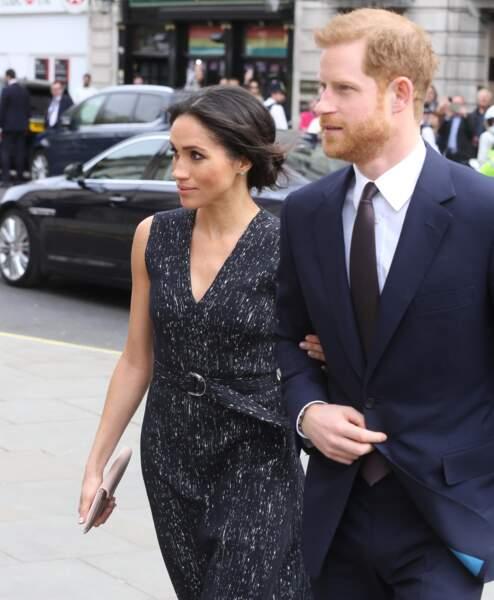 Harry et Meghan assistent à l''office religieux en mémoire de Stephen Lawrence, à Londres le 23 avril 2018