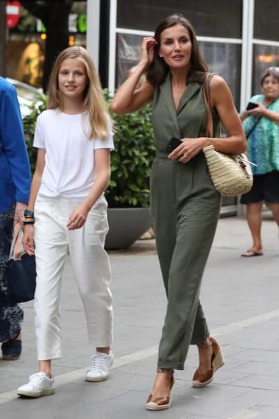 La reine Letizia était accompagnée de sa fille, la princesse Leonor