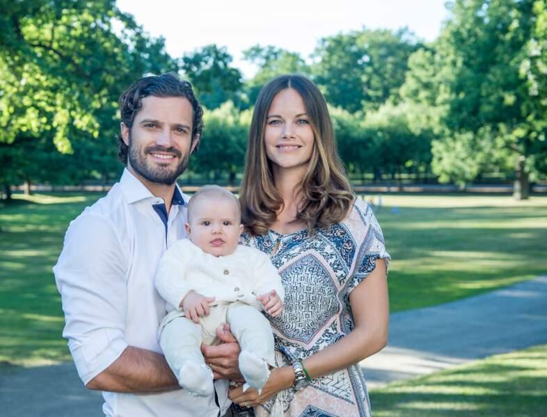 Carl Philip, Sofia et Alexander de Suède, en août 2016