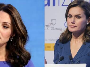 PHOTOS - Coiffures royales : qui de Kate ou Letizia s'en sort le mieux ?