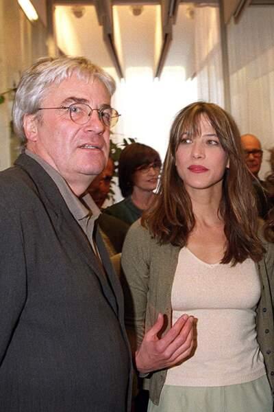 Sophie Marceau et Andrzej Zulawski à Paris en 2001.