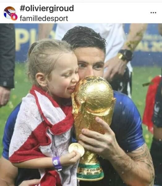 Olivier Giroud et sa fille