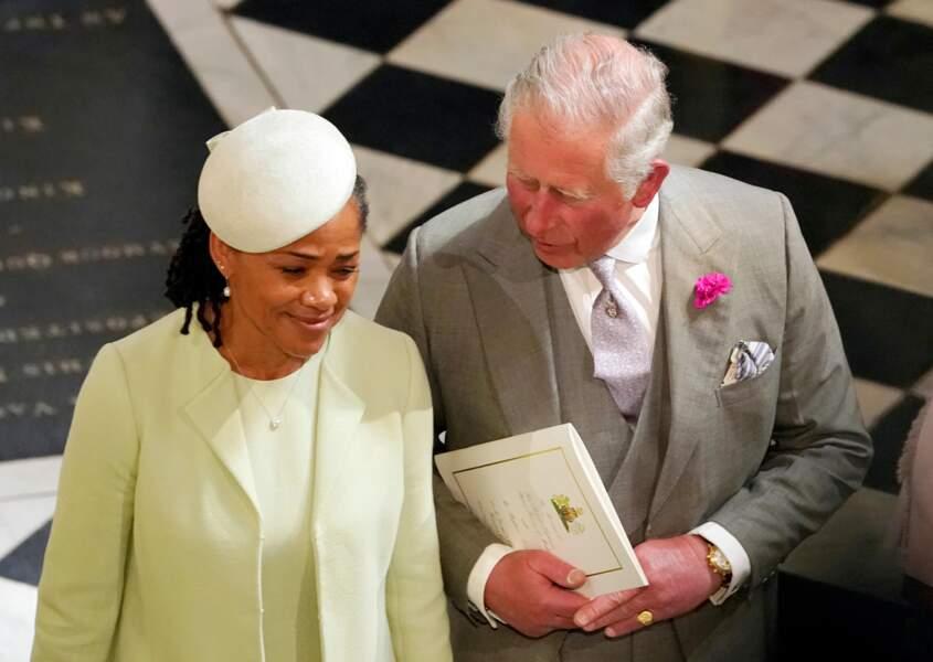 Doria Ragland, très complice avec le prince Charles durant le mariage