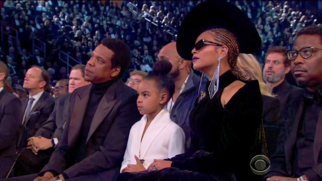 Beyonce, en famille lors des Grammy Awards 2018, porte des lunettes Alain Mikli Paris. Envoutante !