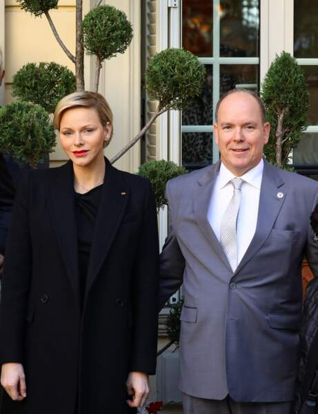 Charlène de Monaco, au siège de la Croix-Rouge, à Monaco, le 17 novembre 2018