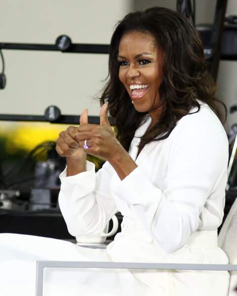 "Michelle Obama (55 ans), sur le plateau de l'émission ""NBC's Today"" en 2018"